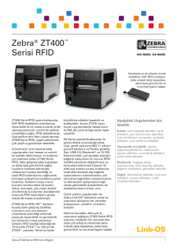 EMEA Zebra ZT400 RFID Datasheet TK HR