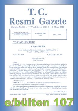 Sayı 107 - İzmir Serbest Muhasebeci Mali Müşavirler Odası