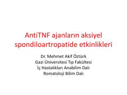 Mehmet Akif Öztürk - romatolojide son 2 yıl