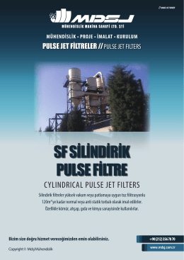 SF SİLİNDİRİK PULSE FİLTRE