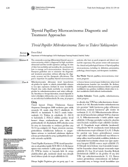 Tam Metin (PDF) - Turkish Archives of Otolaryngology