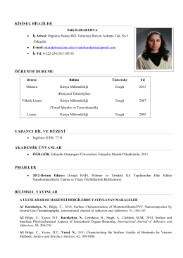 Fotoğraflı CV Formu - eskişehir osmangazi üniversitesi