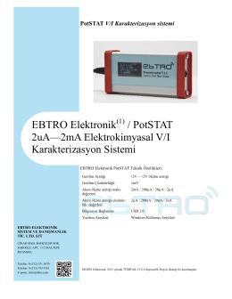 PotSTAT V/I Karakterizasyon sistemi