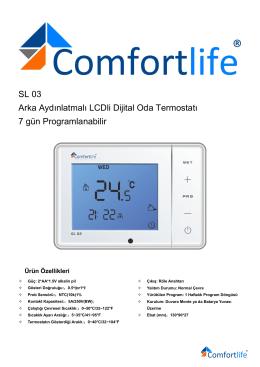 Comfortlife Programlanabilir Oda Termostatı Kullanma Kıla.