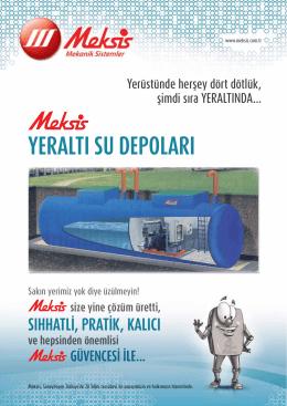 yeraltı su depoları - Meksis Mekanik Sistemler