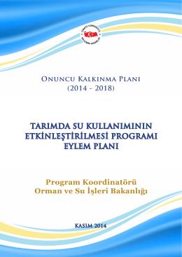 Tarımda Su Kullanımının Etkinleştirilmesi Programı Eylem Planı