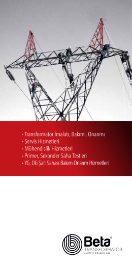 e-broşür - Beta Transformatör