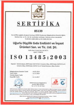 ISO 13485 - Dentindex