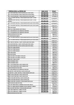 Fiyat Listesi - MUKA METAL A.Ş.