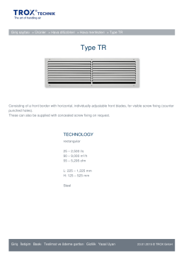 Type TR TROX HIZMETLER
