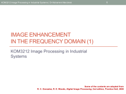 Image processing in the Frequency domain