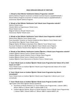 Detaylı Bilgi - İktisadi ve İdari Bilimler Fakültesi