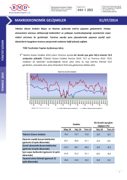 2011 ıv. çeyrek strateji raporu makroekonomik gelişmeler 31/07/2014
