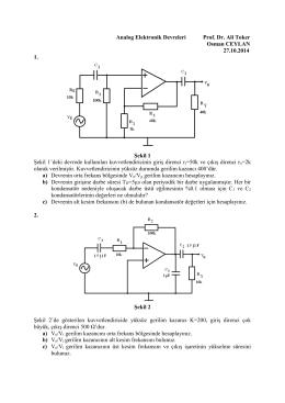 Analog Elektronik Devreleri Prof. Dr. Ali Toker Osman CEYLAN