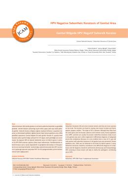 HPV Negative Seborrheic Keratosis of Genital Area Genital Bölgede