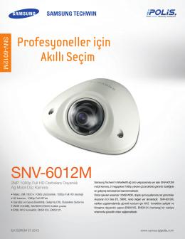 SNV-6012M Datasheet