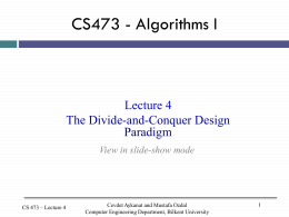 CS473 - Algorithms I