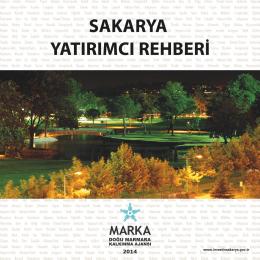 2014 Sakarya Tanıtım Kitapçığı Türkçe
