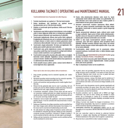 KULLANMA TALİMATI | OPERATING and MAINTENANCE MANUAL
