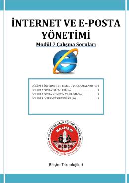 İNTERNET VE E-POSTA YÖNETİMİ