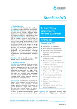StenSilan WOÜrün Föyü