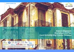 Akdeniz Bölgesinde Bina İyileştirmesi İçin Enerji - ee-WiSe