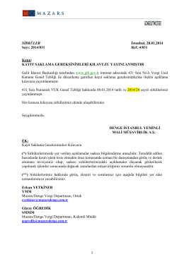 28.01.2014 tarih ve 2014/31