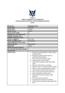 İndir - Eğitim Fakültesi - Girne Amerikan Üniversitesi
