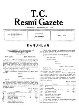 KANUNLA RR - Resmi Gazete