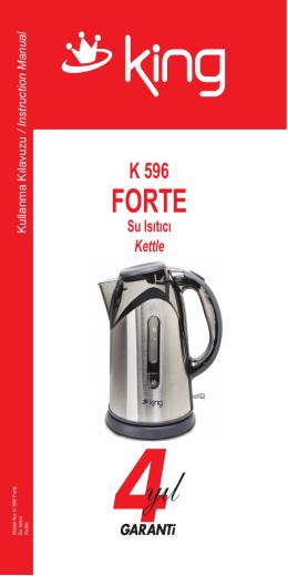 K 596 Forte Kullanma Klavuzu con