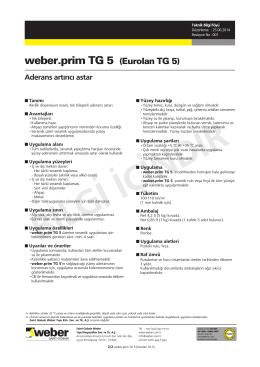 weber.prim TG 5 Türk