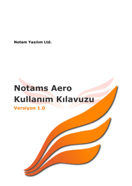 Notams Aero Kullanım Kılavuzu