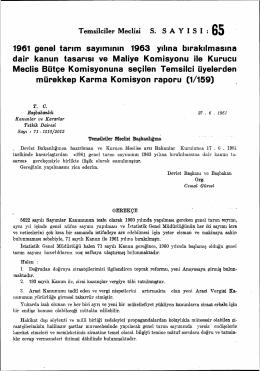 1961 genel tarım sayımının 1963 yılına