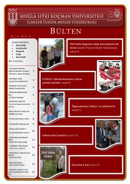 BÜLTEN - İçmeler Turizm Meslek Yüksekokulu