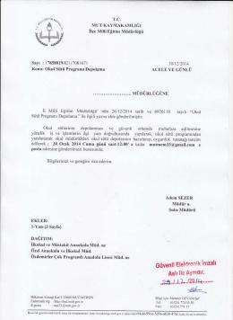 Güvenli EI€Hroıik imzah - mut ilçe millî eğitim müdürlüğü