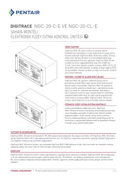 Sahaya monteli Elektronik yüzey ısıtma kontrol ünitesi
