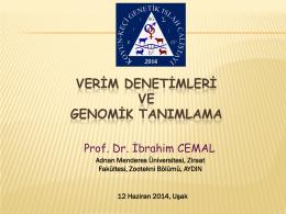 veri denetimleri ve genomik tanımlama - EKKIP