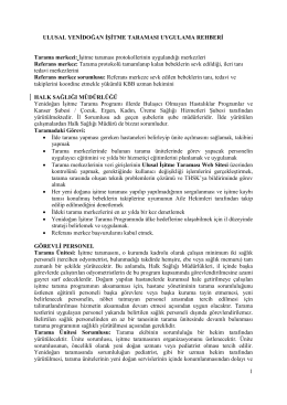 Ek-1 Yenidoğan İşitme Taraması Uygulama Rehberi