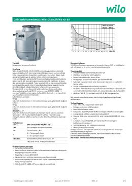 Ürün serisi tanımlaması: Wilo-DrainLift WS 40-50