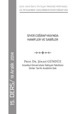 15. derS/ - Siyer Araştırmaları Merkezi