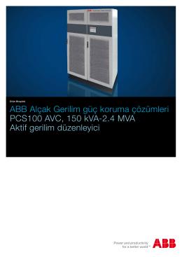 ABB Alçak Gerilim güç koruma çözümleri PCS100 AVC, 150 kVA
