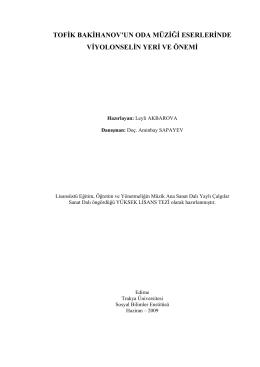 Leyli AKBAROVA - Açık Erişim Sistemi