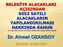 30/04/2014 - Dr.Ahmet Ozansoy