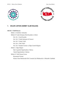 İhale Dökümanı - Gaziantep Ticaret Odası