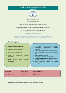 Eylül 2014 Hidroloji Bülteni - Devlet Su İşleri Genel Müdürlüğü