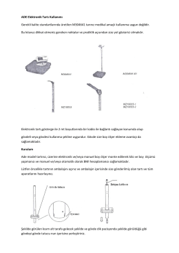 ADE Elektronik Tartı Kullanımı Gerekli kalite