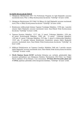 ekim 2014 meclis karar özetleri