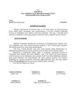 2014 Yılı Meclis Komisyon Kararları(3)