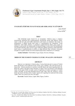 163-175. Xelqara Uyğur Tetqiqati Jornali, San: 3, 2014, Se