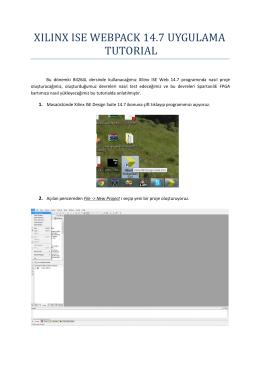 XILINX ISE WEBPACK 14.7 UYGULAMA TUTORIAL